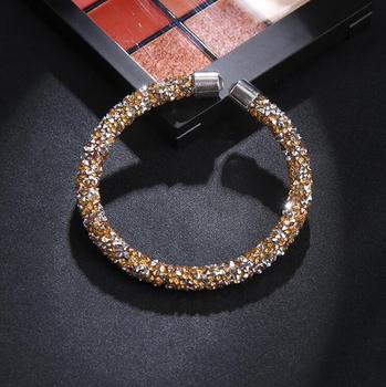 Βραχιόλι κρυστάλλινο χειροπέδα ανοικτή Βραχιόλια Κοσμήματα Αξεσουάρ MSOW