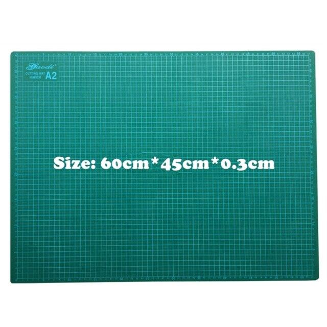 PVC Cutting Mat a2 60*45cm Gaodi Durable Self Healing Handmade DIY Quilting Accessories Flexible Green Patchwork Board  Plotter