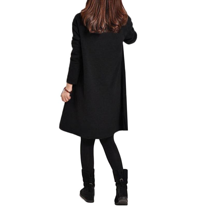 HTB1fIVFQpXXXXaZapXXq6xXFXXX3 - 2018 Autumn Dress Women Winter Long Sleeve Pocket Dress Solid O Neck Casual Loose Party Dresses Fashion Vestidos Plus Size S-5XL