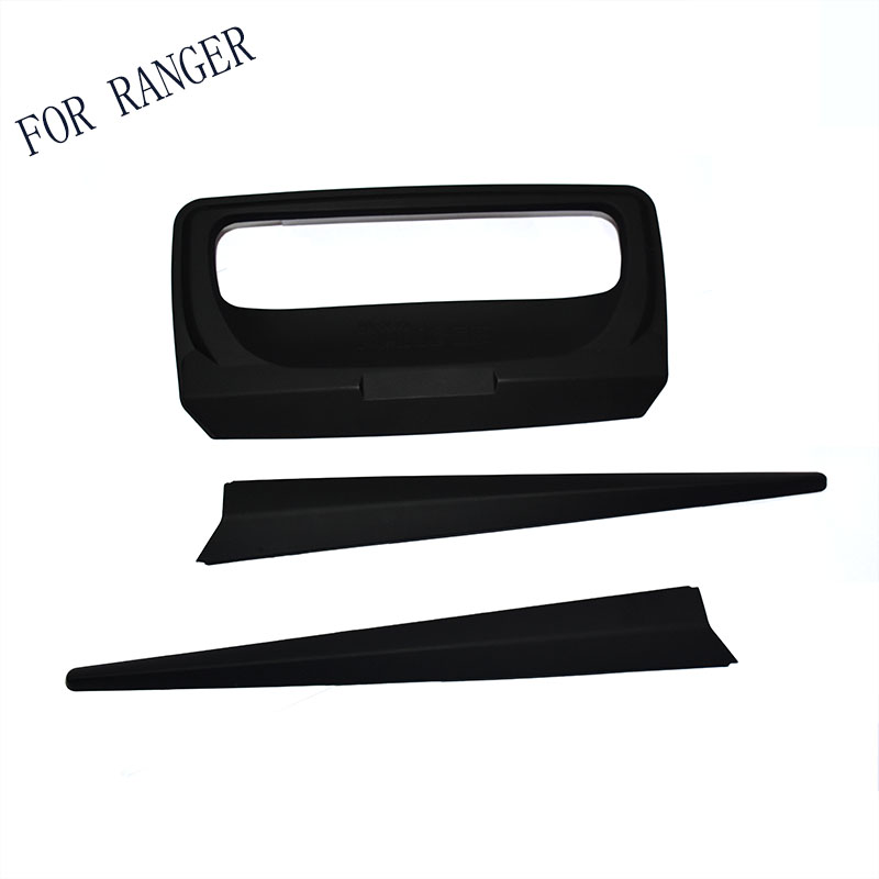 FIT FOR 2012-2017 FORD RANGER Black Rear trunk lid ABS Back trunk lid back rear trim FOR RANGER accessory accessories T6 T7 XLT car auto accessories rear trunk molding lid cover trim rear trunk trim for nissan sunny versa 2011 abs chrome 1pc per set
