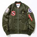 Spring Autumn MA1 Flight Bomber Jacket Men US Army Air Force Remove Before Flight Jackets Mens Embroidery Baseball Jacket M-XXL