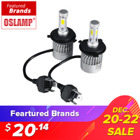 Oslamp LED Car Headlight H4 Hi Lo Beam COB Auto Led Headlight Bulb 72W 8000lm 6500K