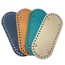New 21x9cm Oval Long Bottom for Knitting Bag PU Leather  Women Ladies Handmade DIY Craft Replacement Accessories KZBT002