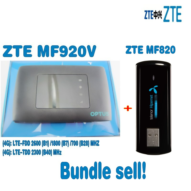 ZTE MF920v LTE MOBILE WIFI+ZTE MF820 4G USB Modem