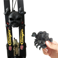 1 set Archery Compound Bow Limb Stabilizer Rubber Skull Bow Limb Shock Absorption Dampering Bow Accessories