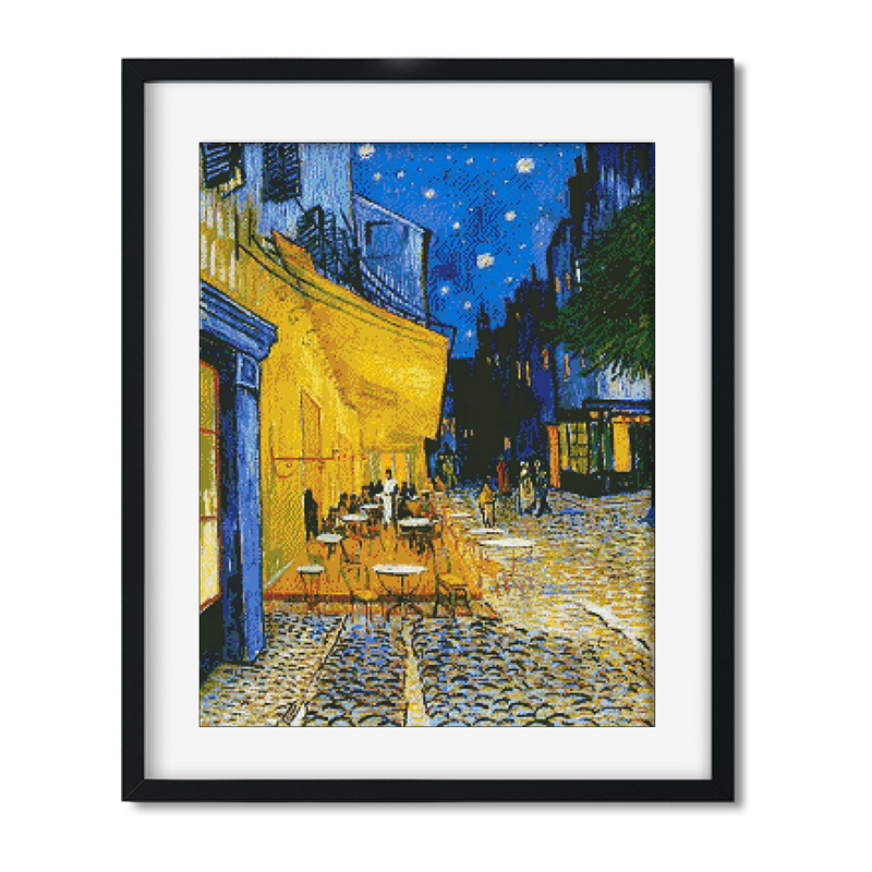 Needlework,11ct/14ct DIY Cross Stitch,Sets For Embroidery Kits Van Gogh Coffee Shop Pattern Cross-Stitch Painting Gift