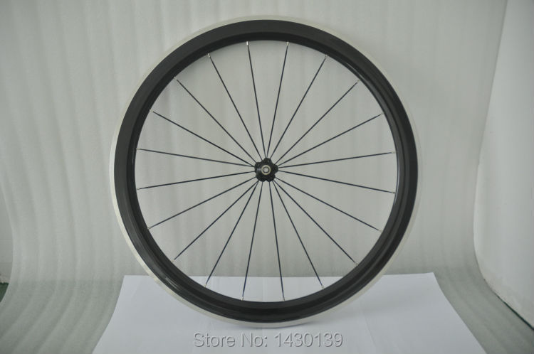 1pcs New 700C 50mm clincher rim Road Track Fixed Gear bicycle carbon bike wheelset with alloy