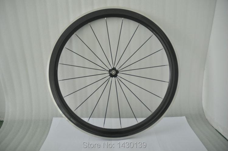 1 pcs Nouvelle 700C 50mm pneu jante Route Piste Vitesse Fixe vélo carbone vélo roues avec freins en alliage surface aero parlé bateau Libre