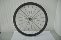 1pcs New 700C 50mm clincher rim Road Track Fixed Gear bicycle carbon bike wheelset with alloy brake surface aero spoke Free ship