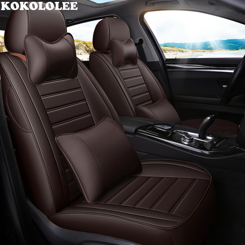 kokololee leather car seat cover For mitsubishi pajero 4 2 sport outlander xl asx accessories lancer covers for vehicle seat