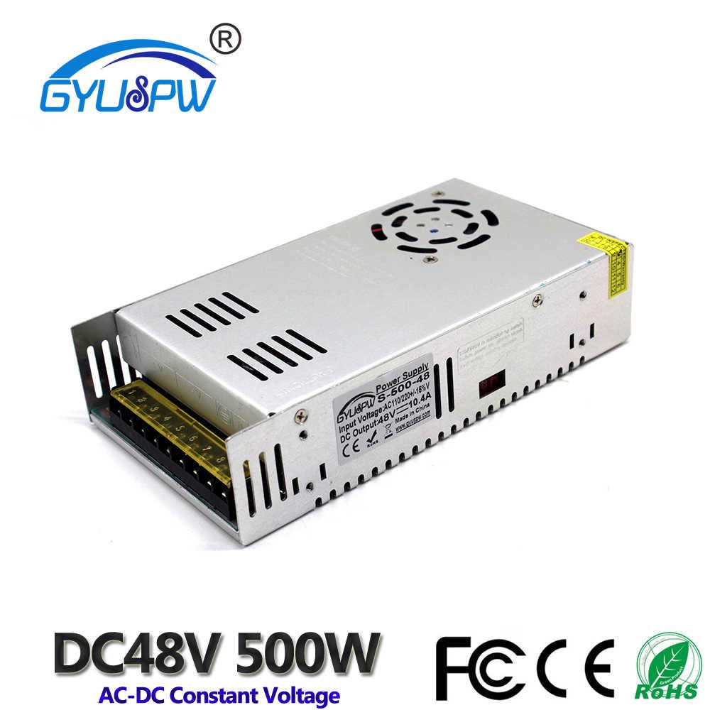 Alimentation à découpage DC36V DC48V 300 W 350 W 360 W 400 W 480 W 500 W 600 W transformateur d'éclairage 110 V 220 V AC à DC 36 V 48 V SMPS moteur