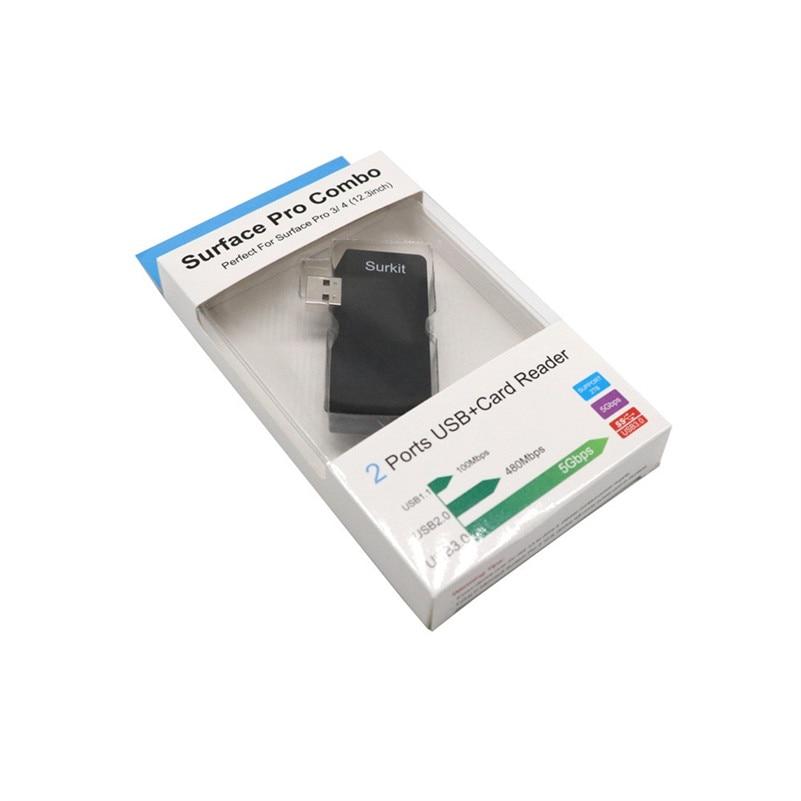 Концентратор usb 5 в 1 USB 3.0 Micro TF/SD карты концентратор адаптер/картридер OTG для surface Pro A8 ...