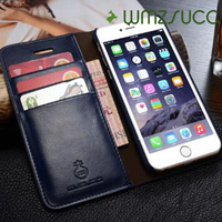 Natural Real Genuine Leather Wallet Case For IPhone 7 6 6S Plus Cell Phone Retro Vintage