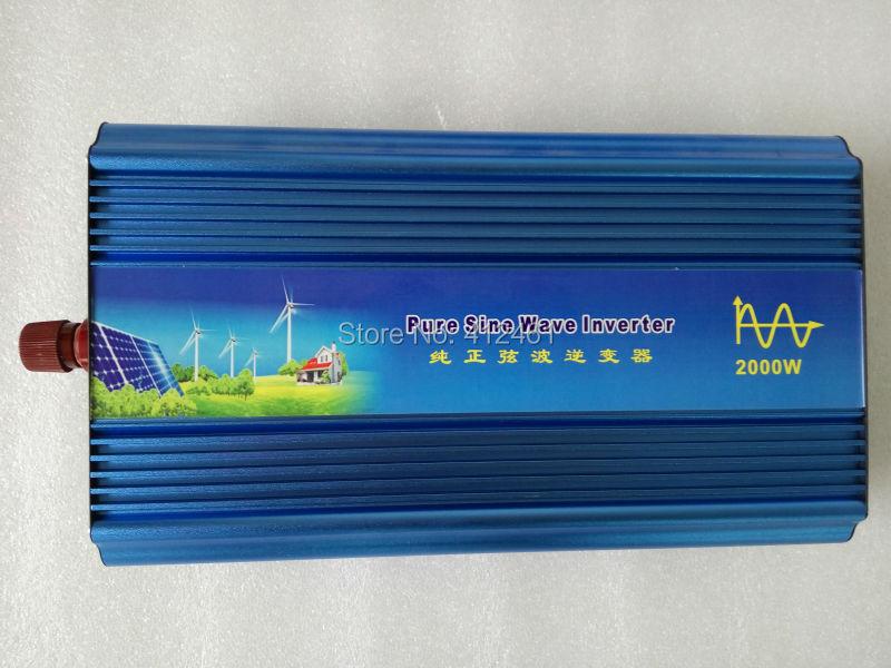 Pure sine wave inverter 2000W 110/220V 12/24VDC, CE certificate, PV Solar Inverter, Power inverter, Car Inverter Converter