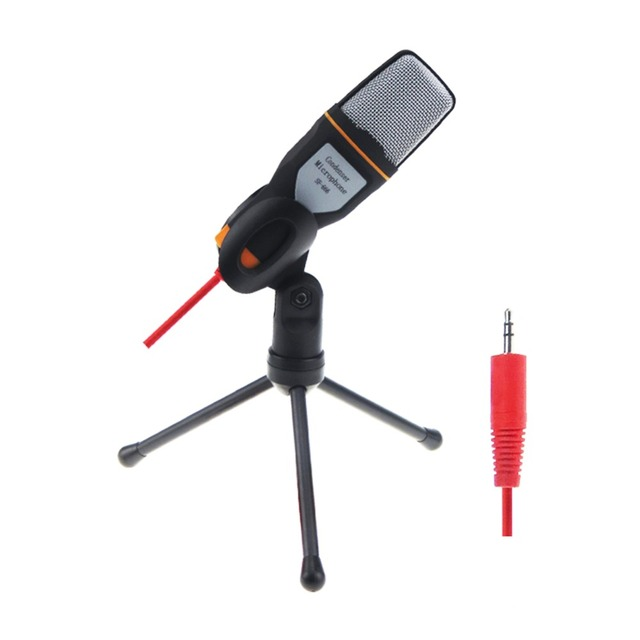 Computer or Conference 3.5mm Jack Studio Microphone Wired Mic with Staido Goodseneck Stand