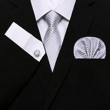Men`s Tie 100% Silk Red Plaid print Jacquard Woven + Hanky Cufflinks Brand Paisley Set Mens Necktie