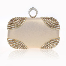 New Exquisite Rhinestone Knucklebox Purse Clutch Evening Bags Sparkling Women Luxury Handbags Wedding Party Bags