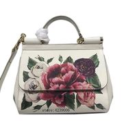Luxury Italy Brand Sicily Ethnic Floral Bag Leather Sicilian Casual Tote Platinum Package Lady Shoulder Messenger Bag 25