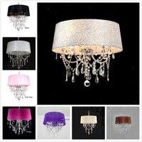 Lighting lamp pendant lights led crystal bedroom Noble Luxury lamp chimney e14 Lamp Glass base led bulb Fashion lampshade