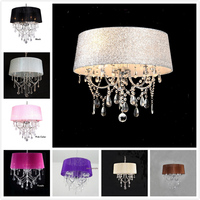 Lighting lamp pendant lights led crystal bedroom Noble Luxury lamp chimney e14 Lamp Glass base led bulb Fashion lampshade