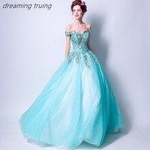 4f5ab5221 Vestido De quinceañeras azul agua encantador Vestidos De 15 Anos Vestidos  De fiesta vestido De fiesta niña dulce 16 Vestidos bat.