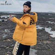 PinkyIsBlack 2019 Short Parkas Women Winter Jacket Casual Hooded Female Coat Warm Thick Long Windproof