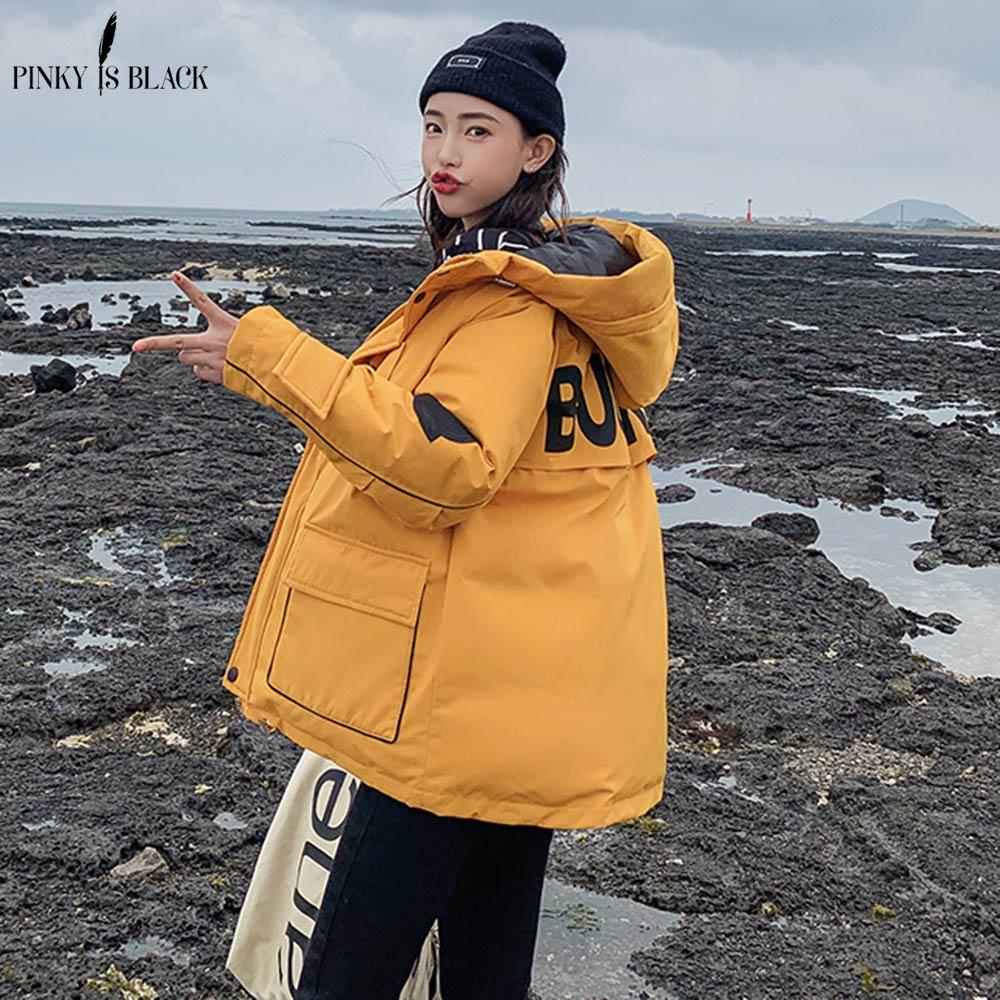 PinkyIsBlack 2019 Short   Parkas   Women Winter Jacket Casual Hooded Female Jacket Coat Winter Women Warm Thick Long Windproof Coat