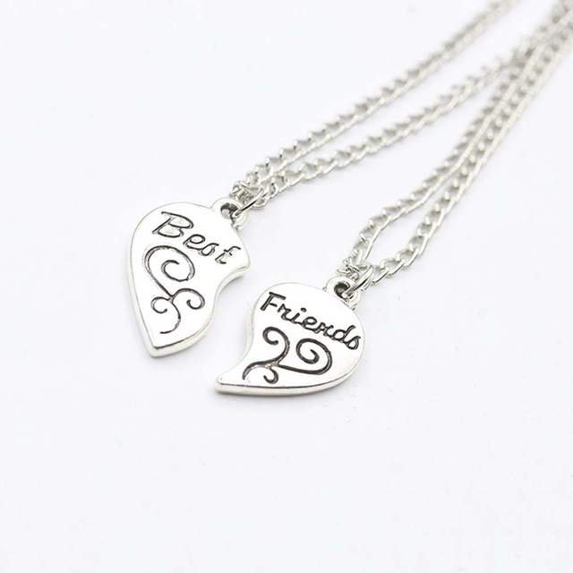 Online shop iparam 2pc silver plated mother daughter necklace silver iparam 2pc silver plated mother daughter necklace silver heart love mom necklaces pendants for women jewelry collier femme aloadofball Choice Image