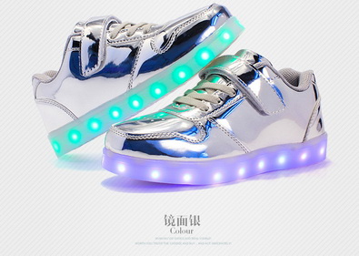 7 Nova sliver Luz Dhl Led gold Carga Pares Simulação Usb 50 Por Sapatos Cores Único pink black Up Casual Luminosos Para Brilhante blue red Homem Sneakers White xZq6XwgnPg