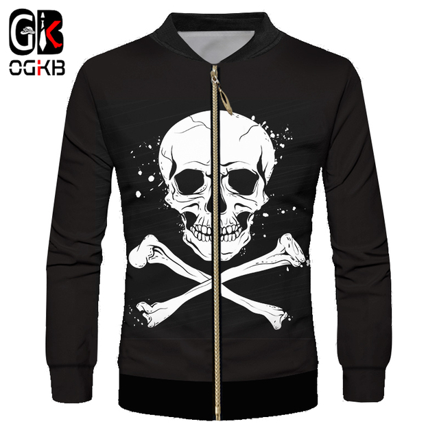 69f680df4fbb OGKB 3d Printed Black Spatter Pirate Jacket Symbol Cool Hiphop Coat Spring  Fall Clothing Unisex Tracksuit
