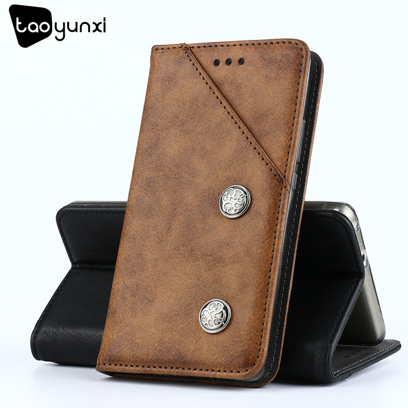 TAOYUNXI For Oukitel K6000 Plus Case Wallet Leather Oukitel K6000 Plus Cover Flip Coque Vintage Holsters Plain Housings 5.5 inch