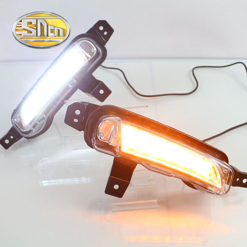 SNCN светодиодными фарами дневного света для Сузуки Витара 2015 2016,Автомобильные аксессуары Водонепроницаемый ABS 12V для DRL туман Лампа украшение