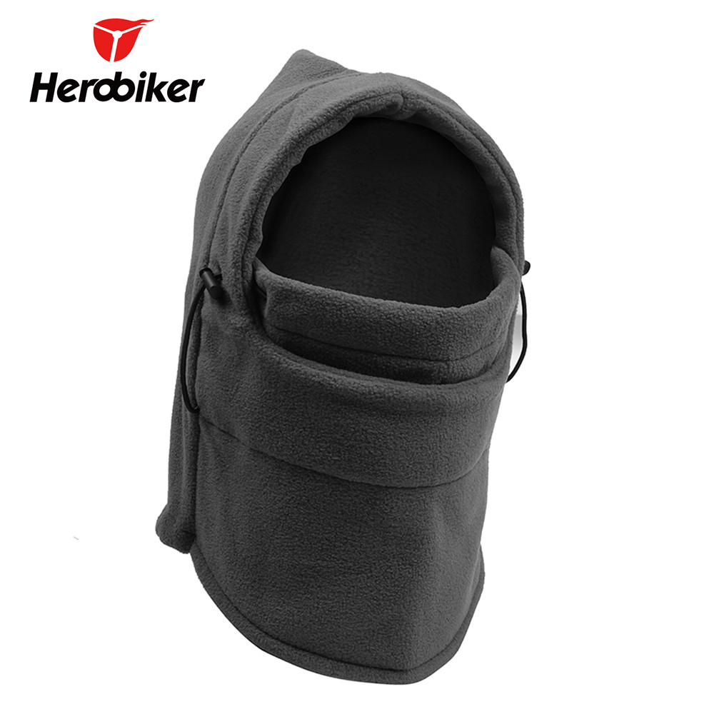 HEROBIKER Fleece Balaclava Moto Motorcycle Face Mask Unisex Autumn Winter Ski Face Shield Hiking Hats Helmet Jogging Mask Caps все цены