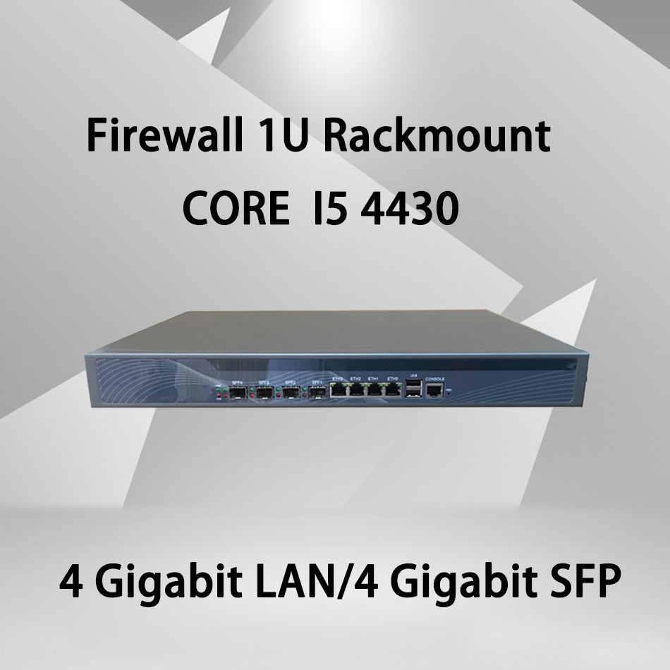 Firewall Mikrotik Pfsense VPN Network Security Appliance Router PC Intel Core I5 4430,[HUNSN SA21R],(4LAN/2USB/1COM/1VGA)