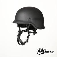 AA Shield Ballistic PASGT M88 Tactical Teijin Helmet Color Black Bulletproof Aramid Safety NIJ Level IIIA Military Army