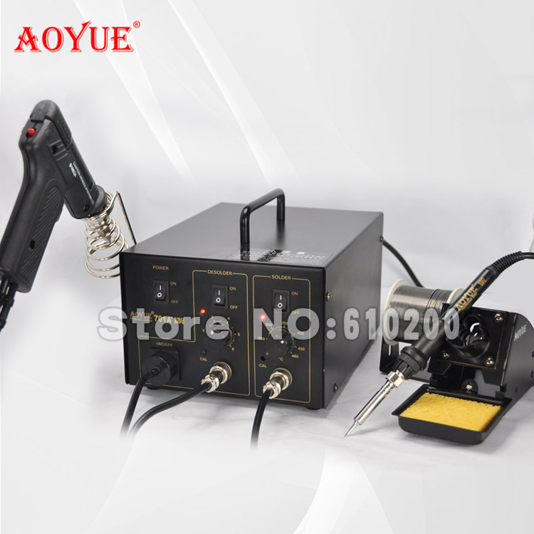 AOYUE 701A+ Brand 2 in 1 BGA Desoldering Station Electric Vacuum Desoldering Pump Solder Sucker Gun +Soldering Station 220V aoyue bga soldering station original solder iron handle soldering station handle 220v 6 pin for aoyue 2702a