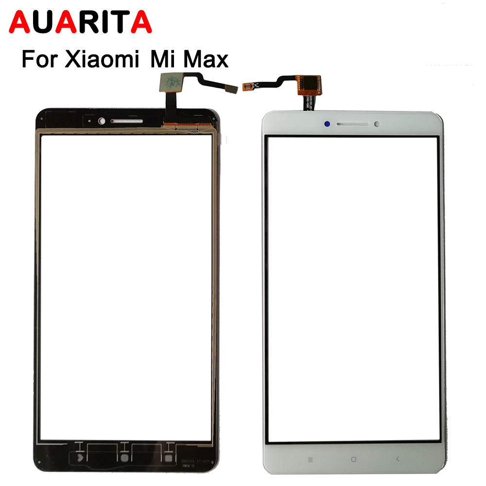 high quality 1pcs/lot touch panel Digitizer Touch Screen Glass for xiaomi mi max Digitizer Sensor Front Glass for xiaomi max