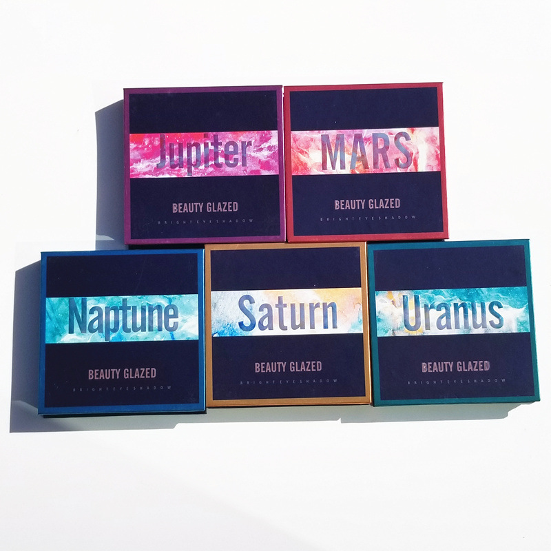 Kind-Hearted Jupiter Mars Neptune Saturn Uranus Makeup Eyeshadow Palette Shimmer Pigmented Eye Shadow Palette Beauty & Health Eye Shadow