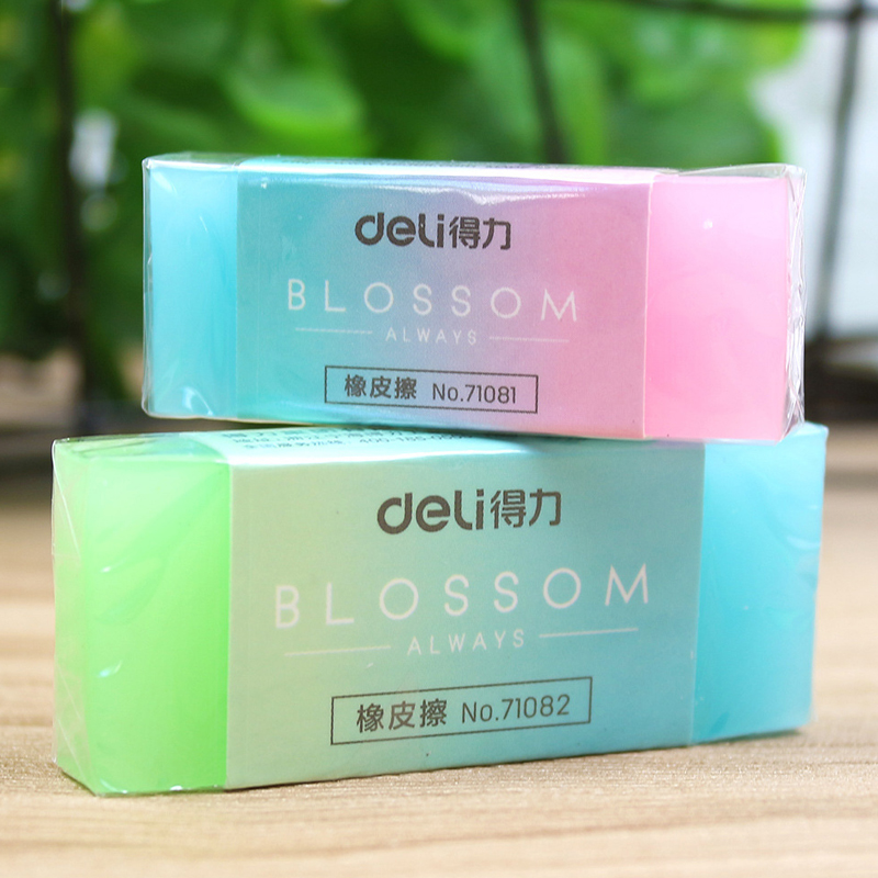 Cute Chancery Jelly Colored Pencil Rubber Eraser Professional Soft Durable Flexible Cube Office Erasers For School Student Kids