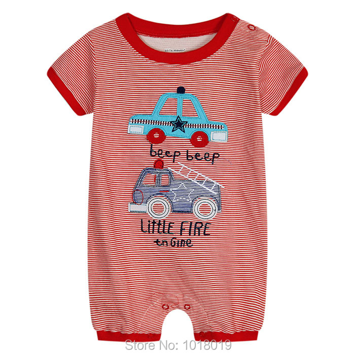 New 2018 Brand Quality 100% Cotton Newborn Baby Boys Clothing Ropa Bebe Creepers Jumpsuit Short Sleeve Rompers Baby Boys Clothes autumn baby rompers brand ropa bebe autumn newborn babies infantial 0 12 m baby girls boy clothes jumpsuit romper baby clothing