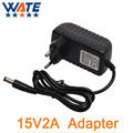 15V2A AC 100V-240V Converter Adapter DC 15V 2A 2000mA Power Supply EU Plug 5.5mm x 2.1-2.5mm for LED CCTV Free shipping