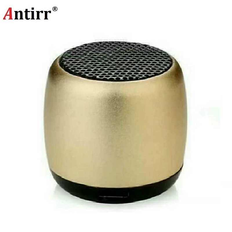 Metal Super Mini Wireless Bluetooth Speaker Portable Small Pocket Size with Selfie Remote Shuttle Control Microphone Lanyard