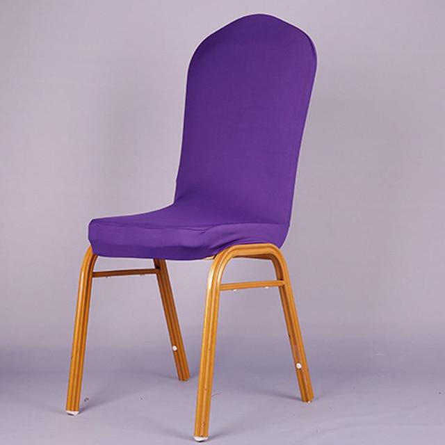 מוצק רגיל סגול כיסוי כיסא פוליאסטר סטרץ כיסוי כיסא אלסטי כיסא אוכל כיסוי עיצוב בית