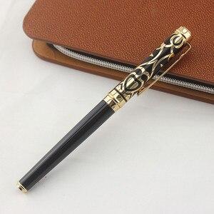 Image 2 - Bolígrafo de metal negro de marca de calidad AAA DUKE, con caja, papelería de oficina fina, bolígrafos de escritura de lujo, regalo