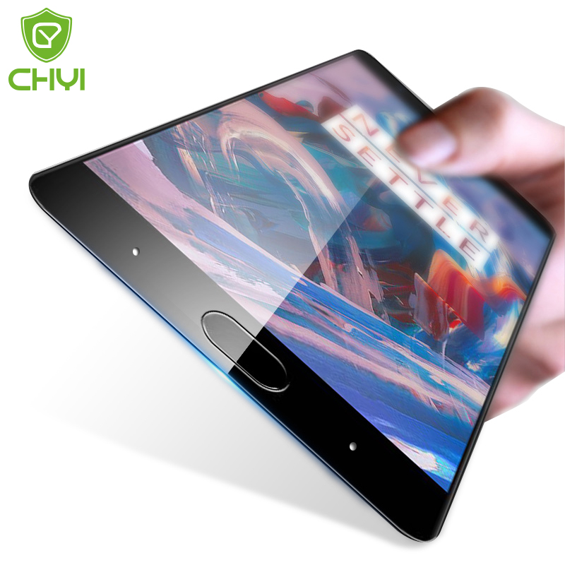 CHYI Premium Tempered Glass For Oneplus 3T A3003 Full Screen Protector OnePlus 3 Oleophobic Coating 5.5 inch Toughened Protective