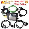 Melhor qualidade!! MB estrela c4 conectar conjunto completo + 07/2016 HDD SD C4 Compacto com WIFI mb estrela c4 mais novo software para 12 V e 24 V carros
