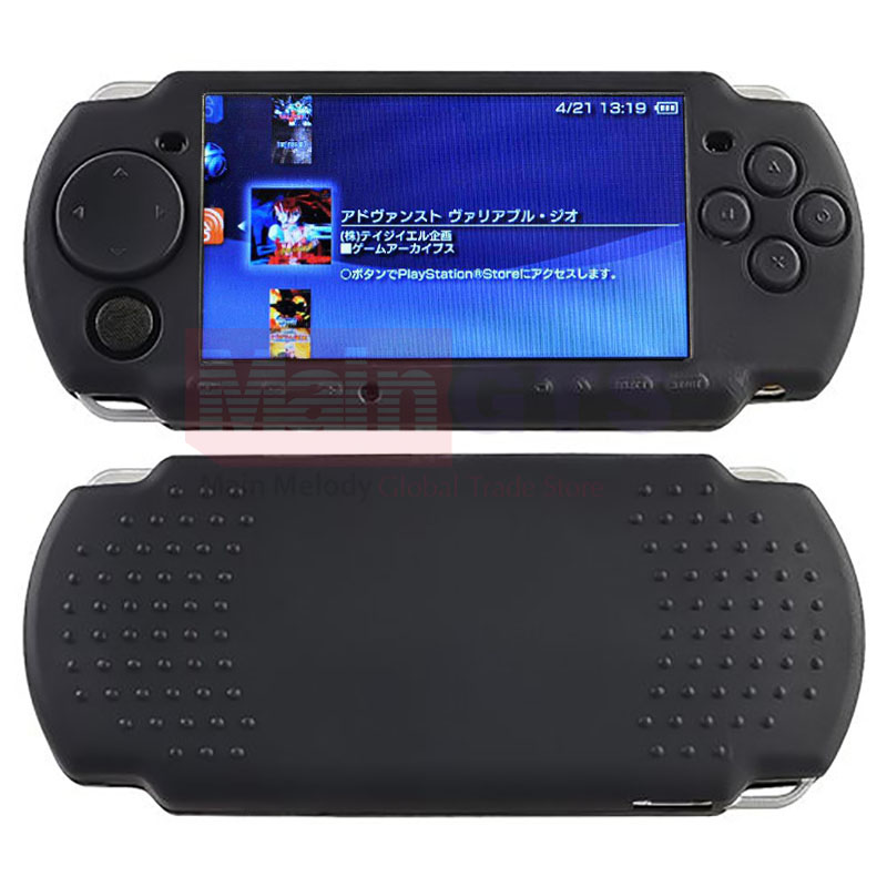 Black Soft Silicone Rubber Skin Case Cover For PSP 2000 3000 Game Controllers Soft Gel Protective Case Cover, Free Shipping