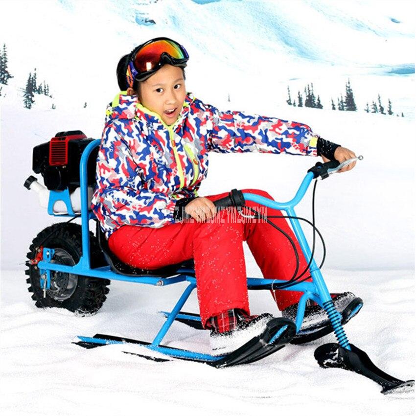 Дети снегод сноуборд бензин топливо с дисковым тормозом Профессиональный Лыжный мотоцикл сани дети Лыжная доска 570108