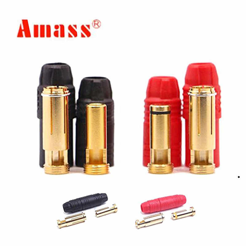 Amass AS150 Connector Anti-Spark Gold Bullet 7mm Male Female For Battery Charger ESC Charge Lead 20%Off