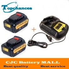 Hohe Qualität 2X20 V 4000 mAh Elektrowerkzeuge Batterien Ersatzschnurlostelefon für Dewalt DCB181 DCB182 DCD780 DCD785 DCD795 + ein Ladegerät